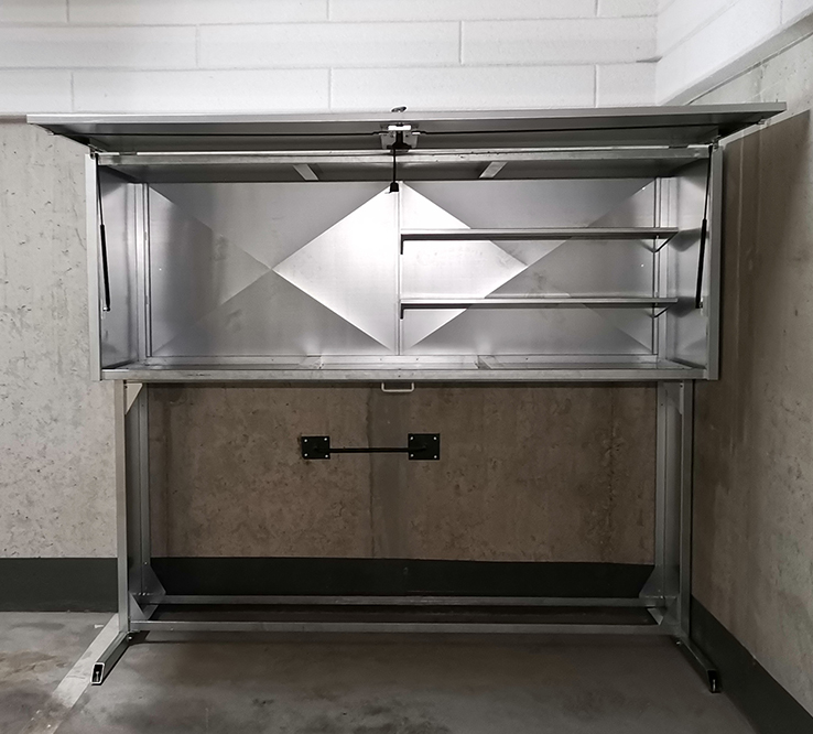 boksy garażowe standard plus środek