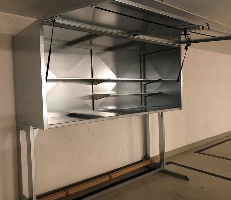 szafy garażowe standard plus środek